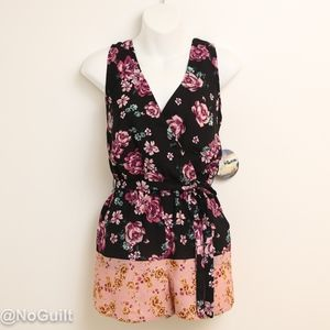 Floral Print Romper by Bebop Size X-Small